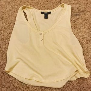 BRAND NEW F21 yellow crop top!
